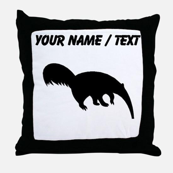 Custom Anteater Silhouette Throw Pillow