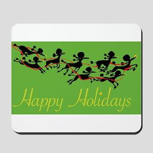 Poodle Holiday Mousepad