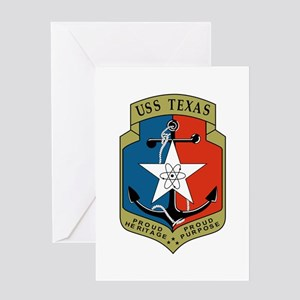 Uss texas greeting cards cafepress uss texas cgn 39 greeting cards m4hsunfo