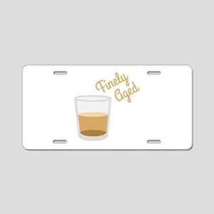 Finely Aged Shot Aluminum License Plate