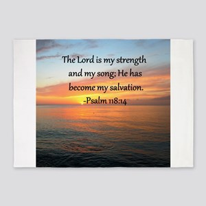 PSALM 118:14 5'x7'Area Rug