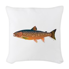Arctic Char v2 Woven Throw Pillow