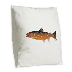 Arctic Char v2 Burlap Throw Pillow