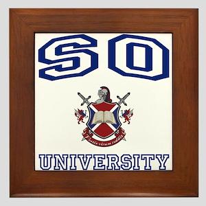 SO University Framed Tile