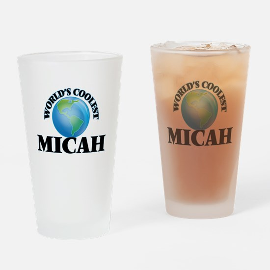 World's Coolest Micah Drinking Glass