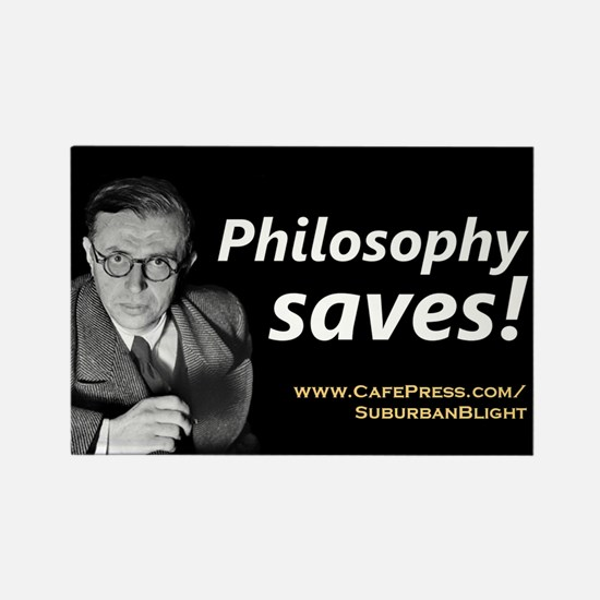 """Philosophy Saves!"" Rectangle Magnet"