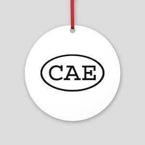 CAE Oval Ornament (Round)