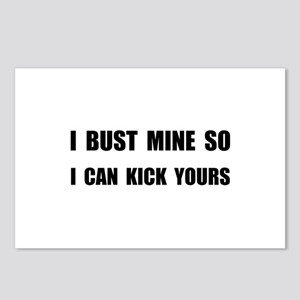 Bust Mine Kick Yours Postcards (Package of 8)