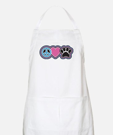 Peace Love Paws Apron