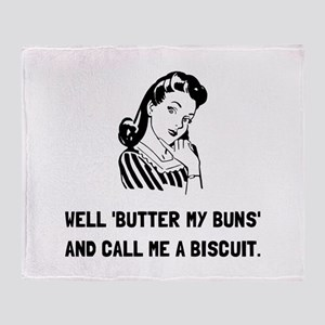 Butter My Buns Throw Blanket