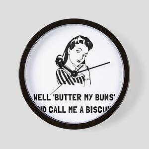 Butter My Buns Wall Clock