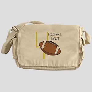 Football Night Messenger Bag