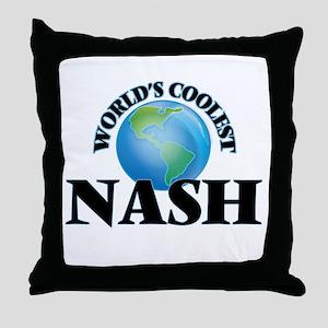 World's Coolest Nash Throw Pillow