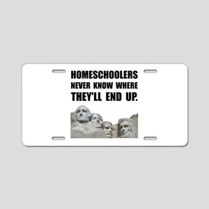 Homeschool Rushmore Aluminum License Plate