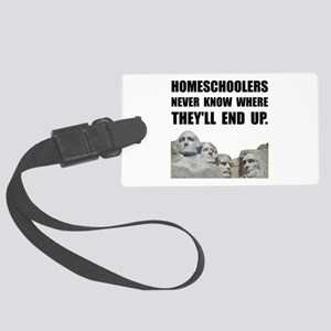 Homeschool Rushmore Luggage Tag