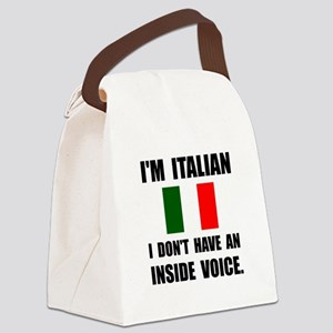 Italian Inside Voice Canvas Lunch Bag