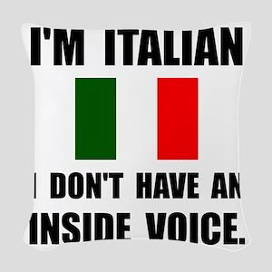 Italian Inside Voice Woven Throw Pillow