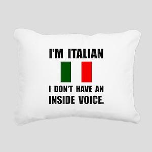 Italian Inside Voice Rectangular Canvas Pillow