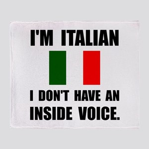 Italian Inside Voice Throw Blanket