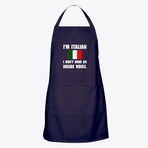 Italian Inside Voice Apron (dark)