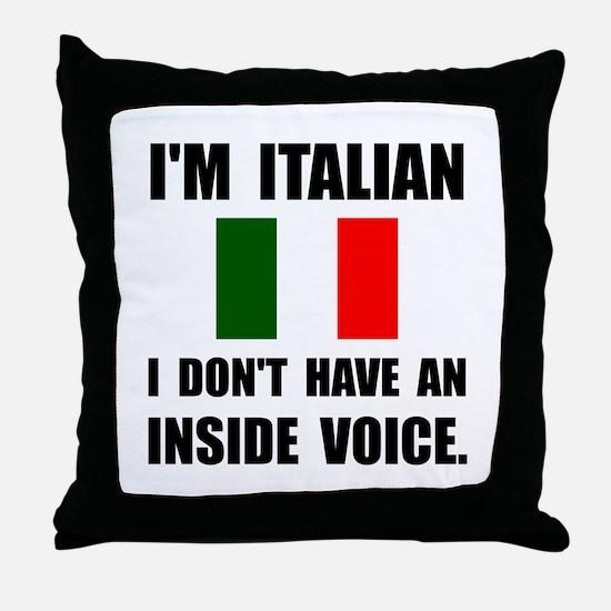 Italian Inside Voice Throw Pillow