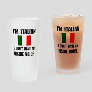 Italian Inside Voice Drinking Glass