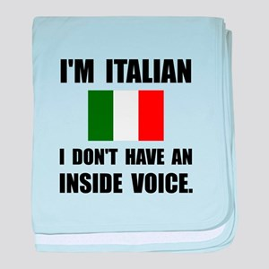 Italian Inside Voice baby blanket