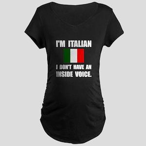 Italian Inside Voice Maternity T-Shirt