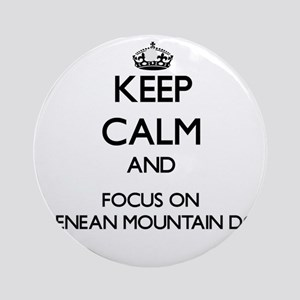 Keep calm and focus on Pyrenean M Ornament (Round)