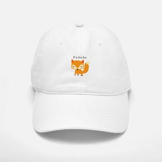 F Is For Fox Baseball Baseball Baseball Cap