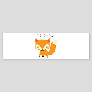F Is For Fox Bumper Sticker
