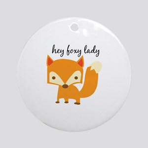 Foxy Lady Ornament (Round)