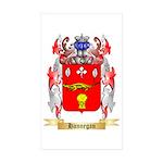 Hannegan Sticker (Rectangle 50 pk)