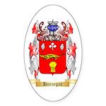 Hannegan Sticker (Oval 50 pk)