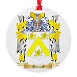 Hannah Round Ornament
