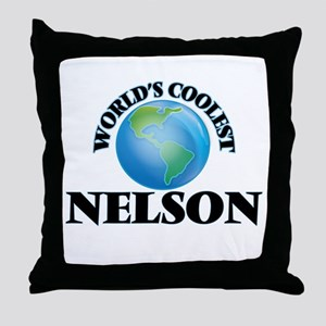World's Coolest Nelson Throw Pillow