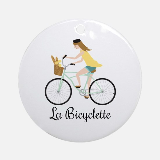 La Bicyclette Ornament (Round)