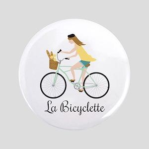"""La Bicyclette 3.5"""" Button"""