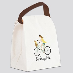 La Bicyclette Canvas Lunch Bag