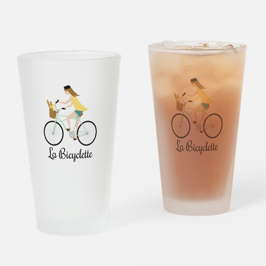 La Bicyclette Drinking Glass