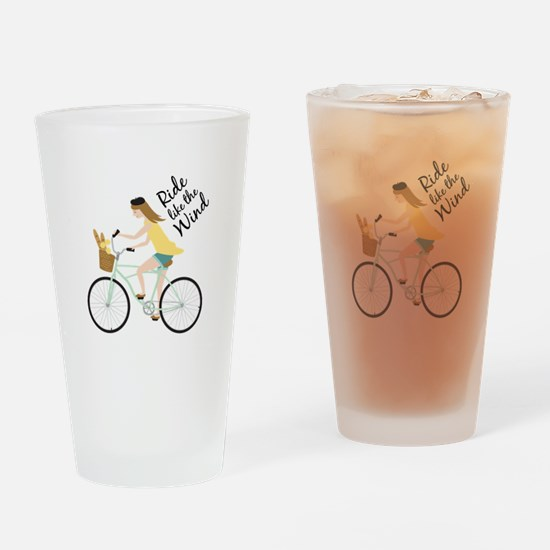 Ride Like The Wind Drinking Glass