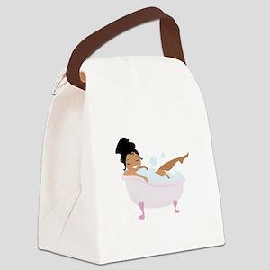 Ladys Bubble Bath Canvas Lunch Bag