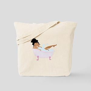 Ladys Bubble Bath Tote Bag