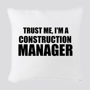 Trust Me, I'm A Construction Manager Woven Throw P
