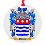 Haning Round Ornament