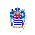Haning Oval Car Magnet