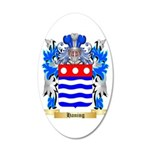Haning 20x12 Oval Wall Decal