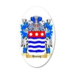 Haning 35x21 Oval Wall Decal