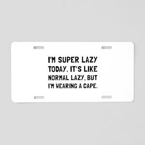 Super Lazy Aluminum License Plate
