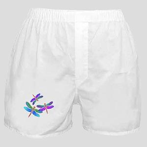 Dive Bombing Iridescent Dragonflies Boxer Shorts